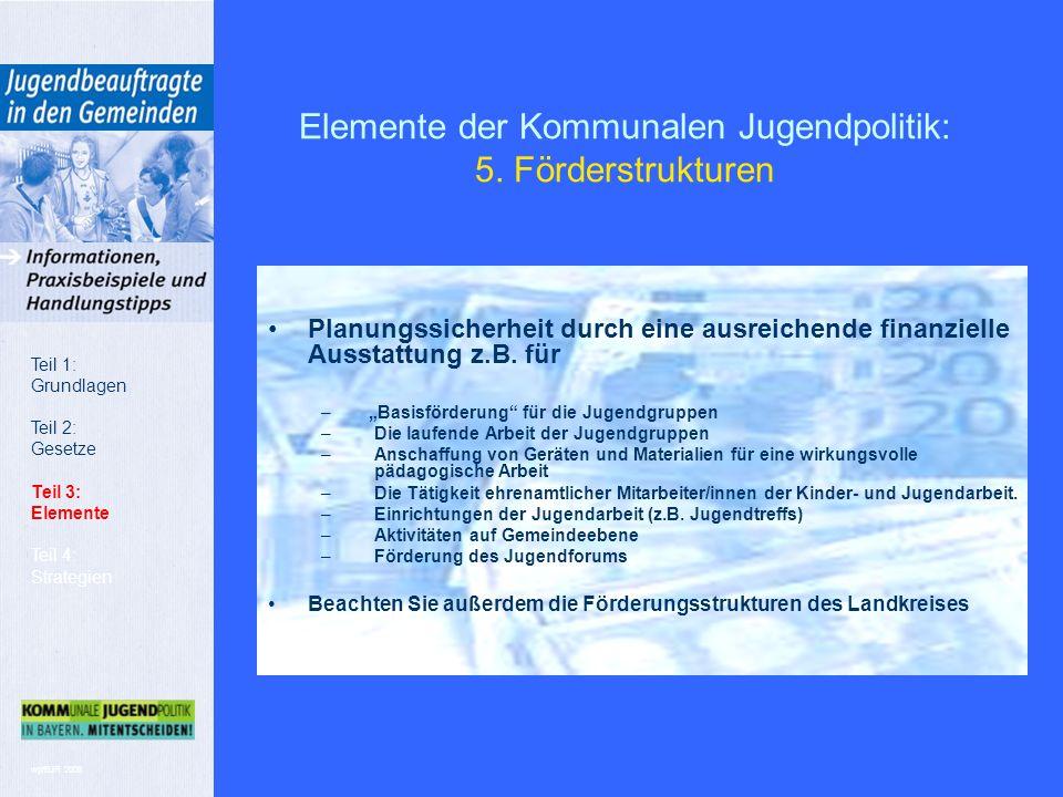 wp/BJR 2008 Elemente der Kommunalen Jugendpolitik: 5.