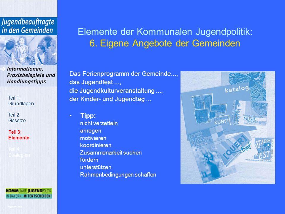 wp/BJR 2008 Elemente der Kommunalen Jugendpolitik: 6.