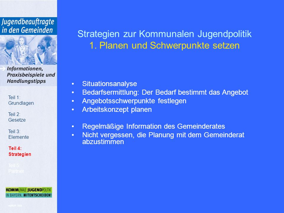 wp/BJR 2008 Strategien zur Kommunalen Jugendpolitik 1.