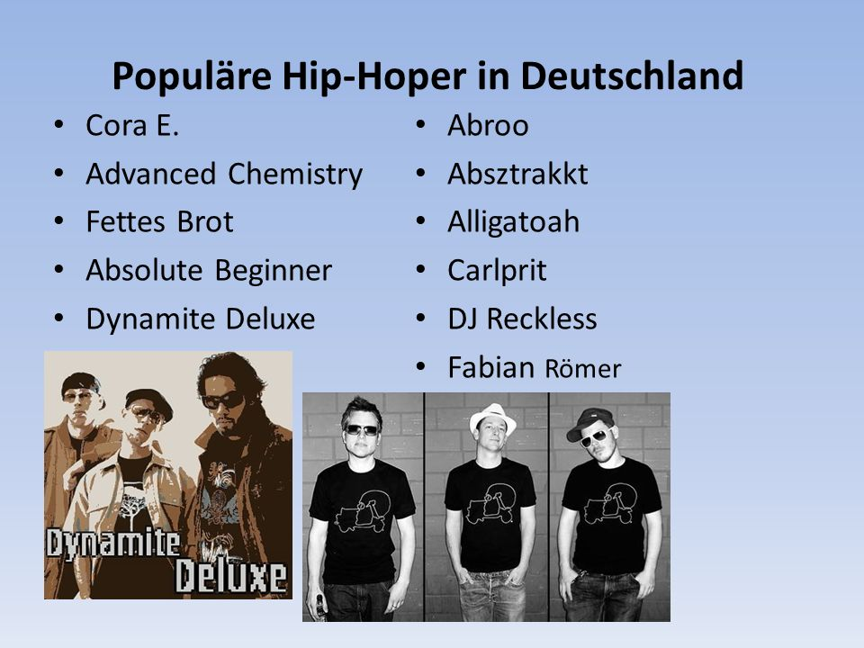 Populäre Hip-Hoper in Deutschland Cora E.