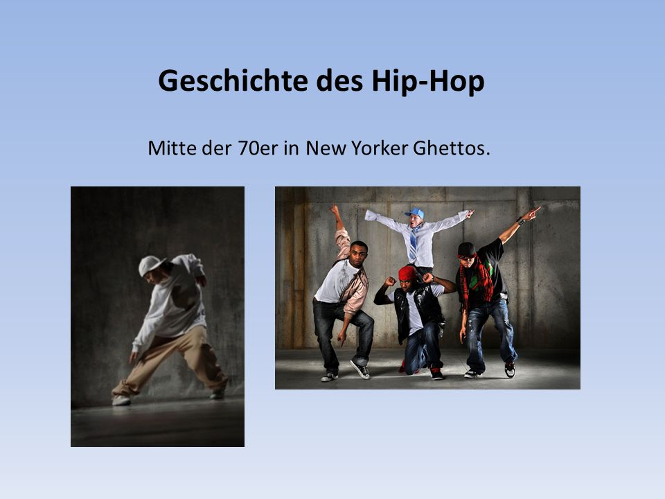 Elemente der Hip-Hop-Kultur  Rap (MCing)  Djing  B-Boying (Breakdance)  Graffiti-Writing.