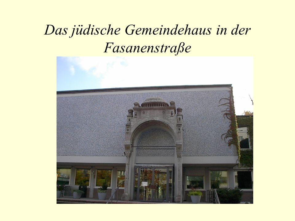 Das jüdische Gemeindehaus in der Fasanenstraße