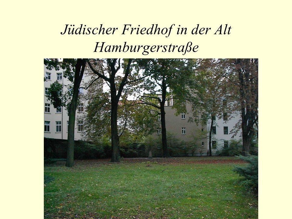 Jüdischer Friedhof in der Alt Hamburgerstraße