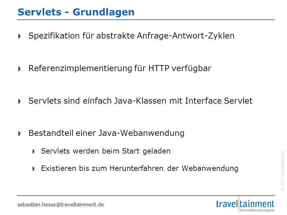 © 2012 TravelTainment Spring - Module sebastian.hesse@traveltainment.de