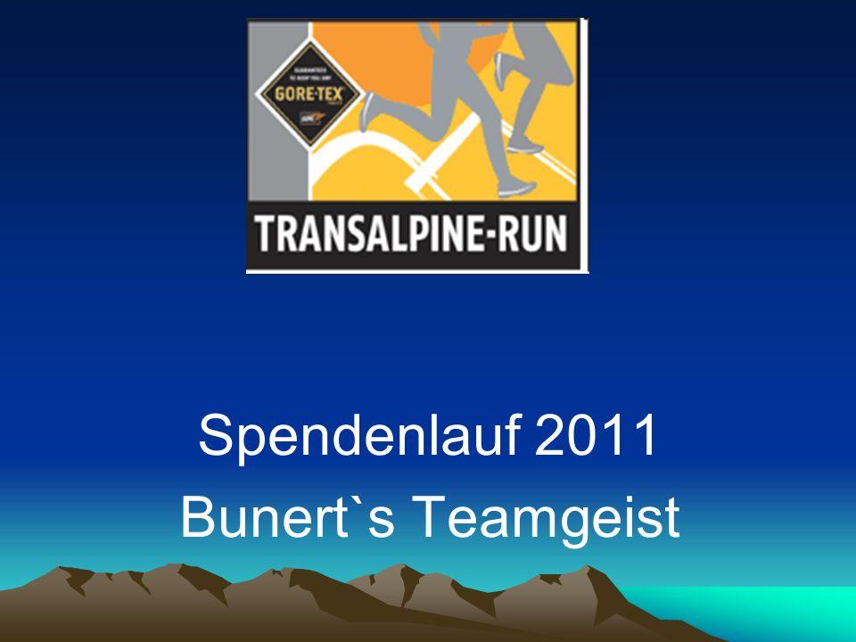 Spendenlauf 2011 Bunert`s Teamgeist