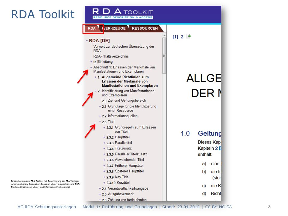 Beispiele Beispiele in RDA sind nicht präskriptiv, sondern nur illustrierend.