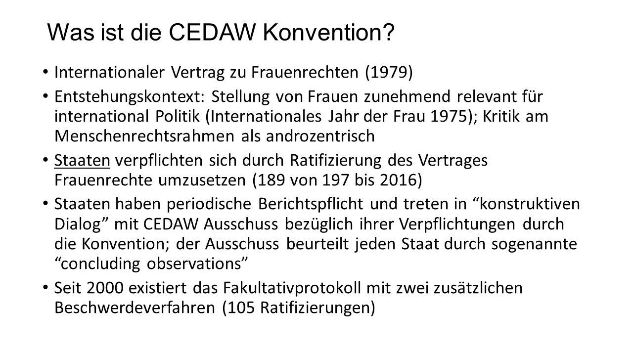 Was ist die CEDAW Konvention.