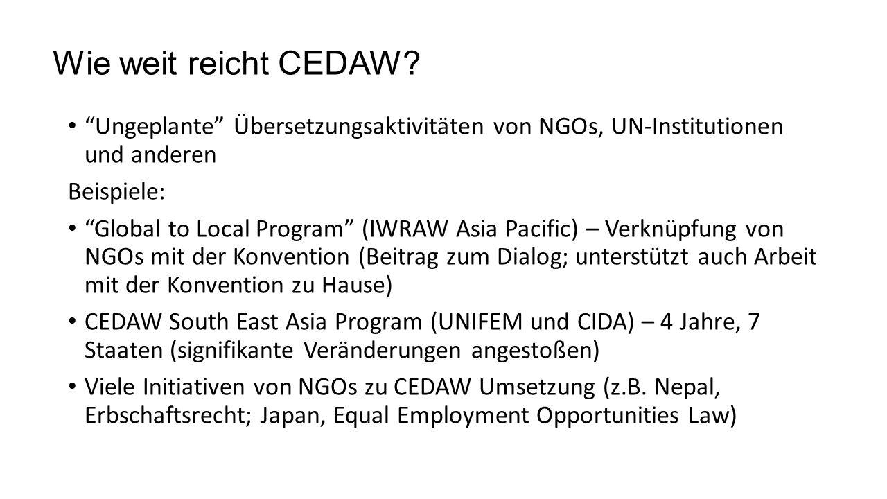 Wie weit reicht CEDAW.
