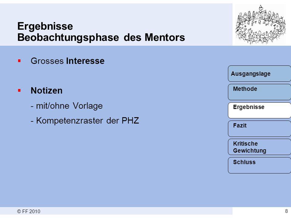 © FF 20109 Ergebnisse Situation/Rahmenbedingungen  Schweizerdeutsch (16) vs.