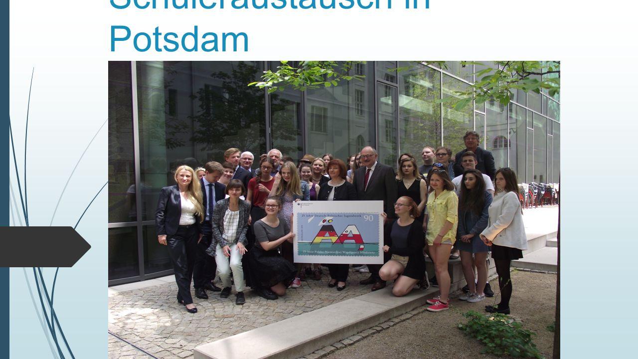  Ich und meine Kollegen von Polen mit Frau Wandzel und mit Frau Grześków waren an der Schüleraustausch in Potsdam.