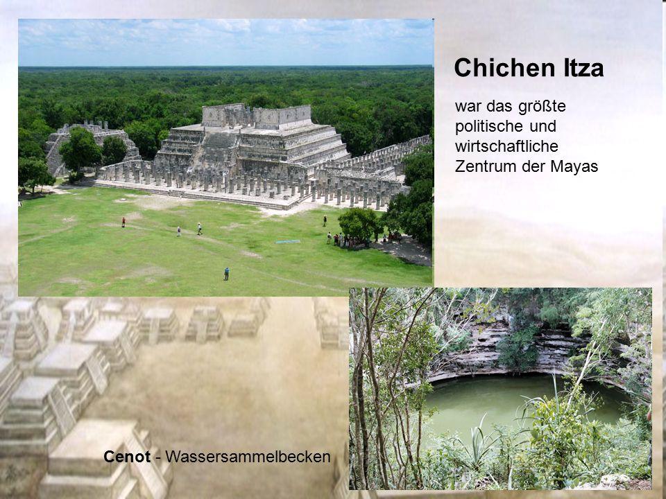 Chichen Itza war das größte politische und wirtschaftliche Zentrum der Mayas Cenot - Wassersammelbecken