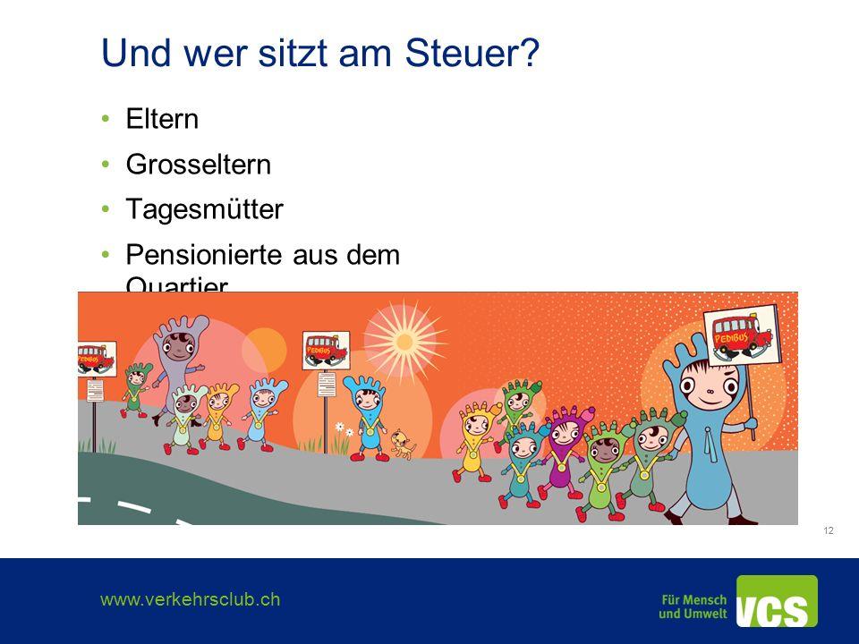 www.verkehrsclub.ch 12 Und wer sitzt am Steuer.