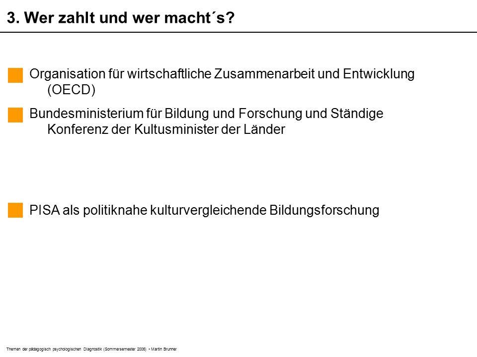 Themen der pädagogisch psychologischen Diagnostik (Sommersemester 2006) Martin Brunner 3.