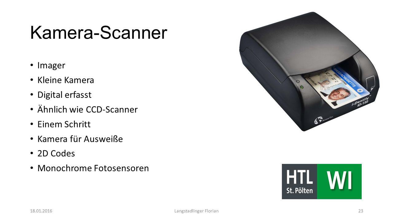Kamera-Scanner Imager Kleine Kamera Digital erfasst Ähnlich wie CCD-Scanner Einem Schritt Kamera für Ausweiße 2D Codes Monochrome Fotosensoren 18.01.2016Langstadlinger Florian23