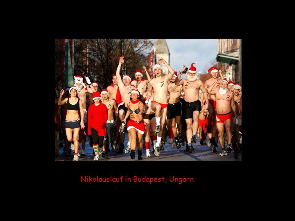 Nikolauslauf in Budapest, Ungarn