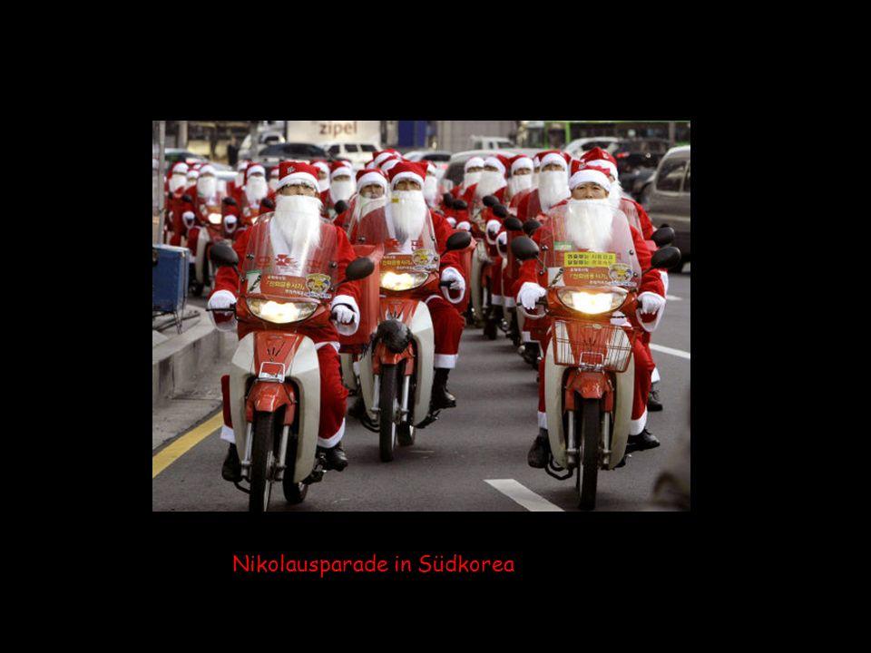 Nikolausparade in Südkorea