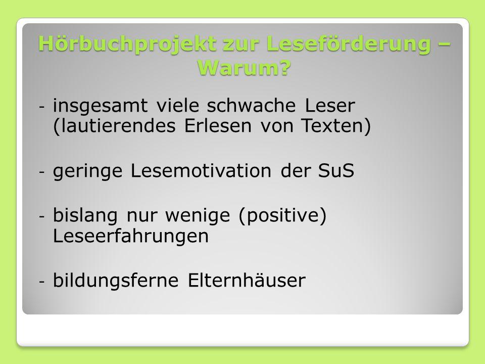 Hörbuchprojekt zur Leseförderung – Warum.