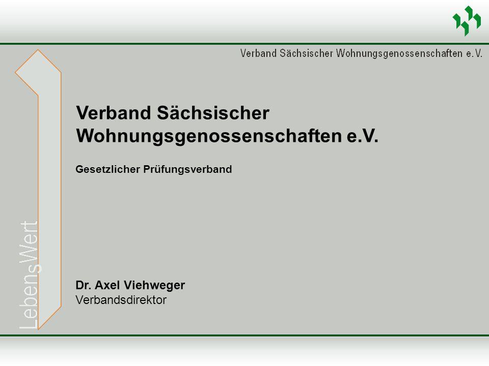 Dr. Axel Viehweger Verbandsdirektor Verband Sächsischer Wohnungsgenossenschaften e.V. Gesetzlicher Prüfungsverband