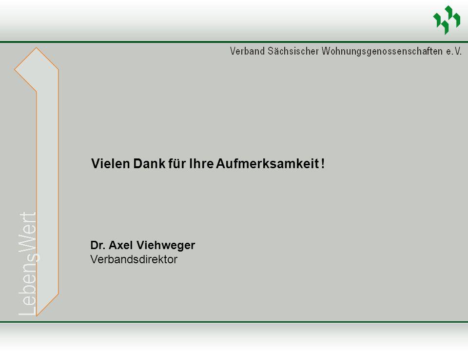 Vielen Dank für Ihre Aufmerksamkeit ! Dr. Axel Viehweger Verbandsdirektor