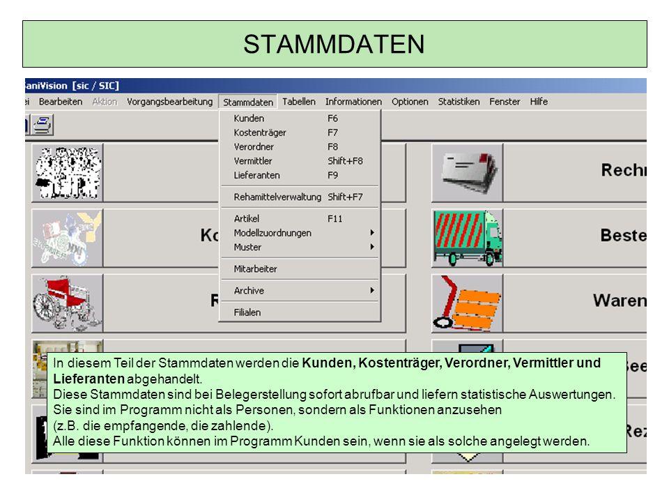 Kostenträger / Kontextmenü Wiedervorlage für markierten Datensatz Wiedervorlage mit Datum und Mitarbeiter hinterlegen (z.B.