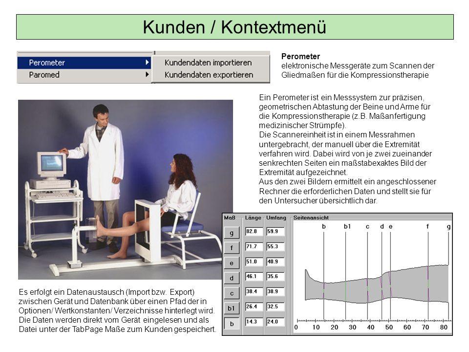 Ein Perometer ist ein Messsystem zur präzisen, geometrischen Abtastung der Beine und Arme für die Kompressionstherapie (z.B. Maßanfertigung medizinisc