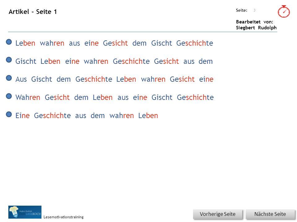 Übungsart: Seite: Bearbeitet von: Siegbert Rudolph Lesemotivationstraining Das Zeugnis allein, kann es nicht sein.
