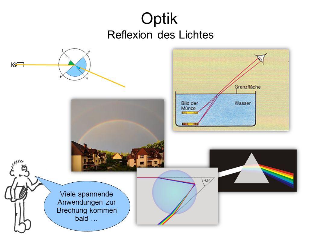 Optik Reflexion des Lichtes Viele spannende Anwendungen zur Brechung kommen bald …