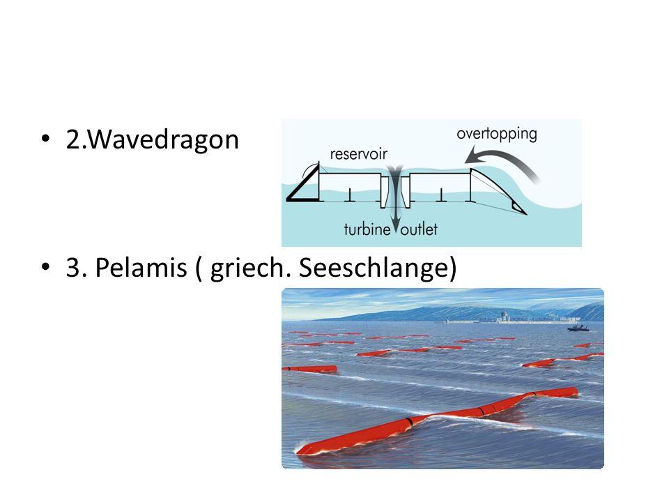 2.Wavedragon 3. Pelamis ( griech. Seeschlange)