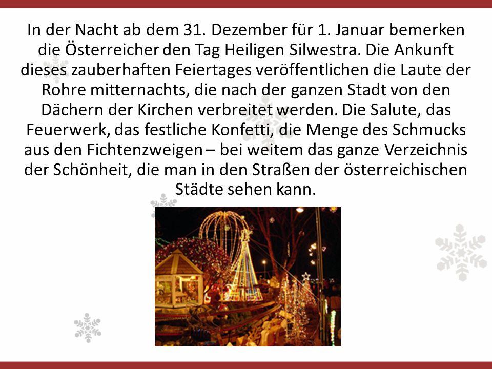 In der Nacht ab dem 31. Dezember für 1.