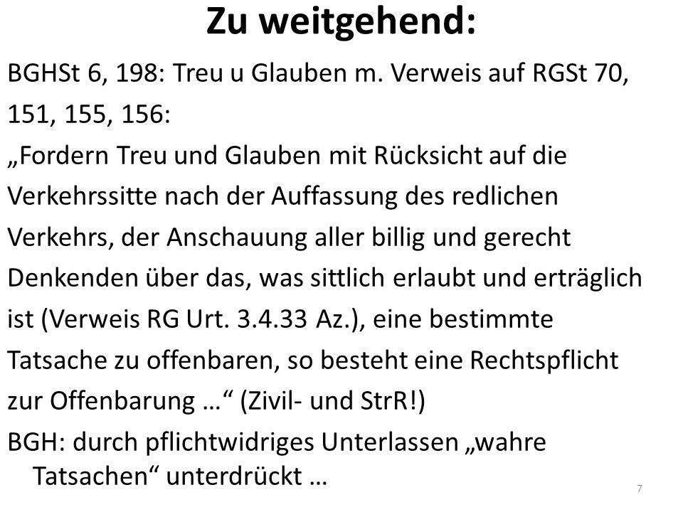 Weitere Garantenstellungen Übernahme (freiwill) v.