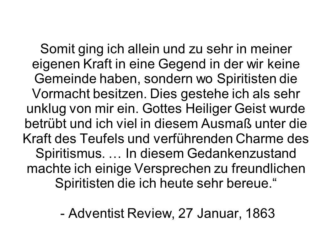 Somit ging ich allein und zu sehr in meiner eigenen Kraft in eine Gegend in der wir keine Gemeinde haben, sondern wo Spiritisten die Vormacht besitzen.
