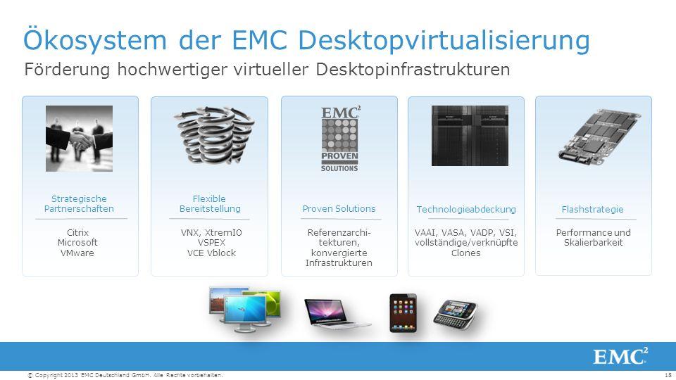 18© Copyright 2013 EMC Deutschland GmbH. Alle Rechte vorbehalten.