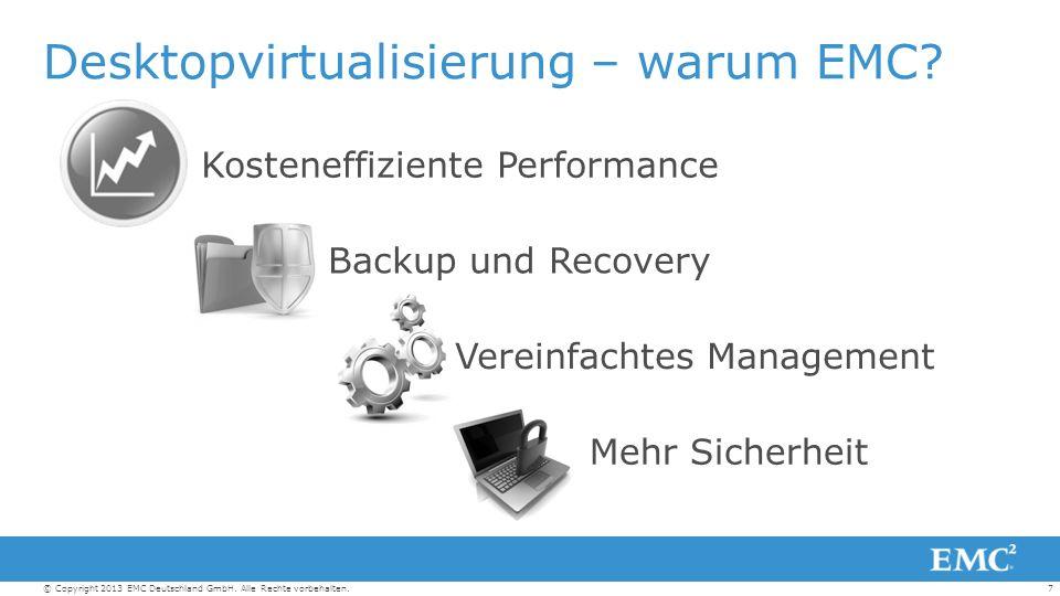 18© Copyright 2013 EMC Deutschland GmbH.Alle Rechte vorbehalten.
