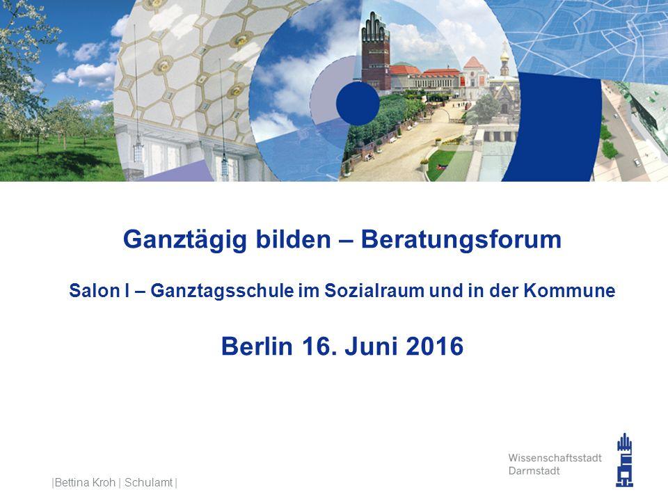 Ganztägig bilden – Beratungsforum Salon I – Ganztagsschule im Sozialraum und in der Kommune Berlin 16. Juni 2016 |Bettina Kroh | Schulamt |