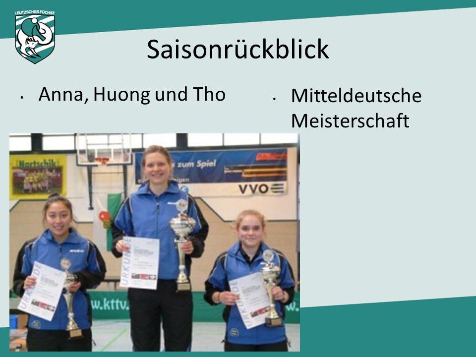 Saisonrückblick Mitteldeutsche Meisterschaft Anna, Huong und Tho