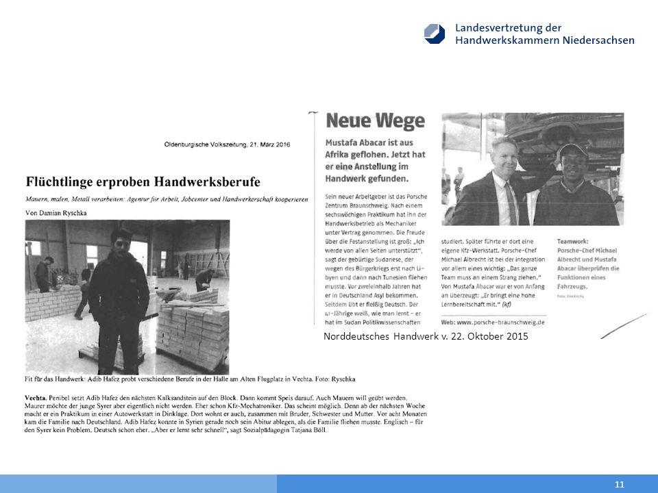 11 Norddeutsches Handwerk v. 22. Oktober 2015
