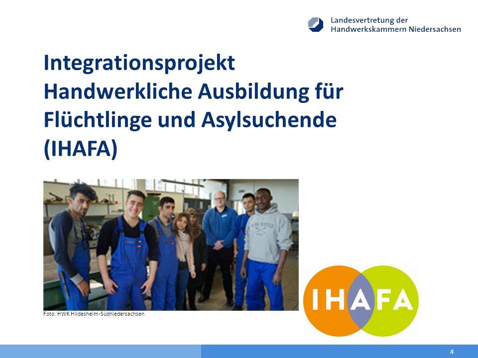4 Integrationsprojekt Handwerkliche Ausbildung für Flüchtlinge und Asylsuchende (IHAFA) Foto: HWK Hildesheim-Südniedersachsen