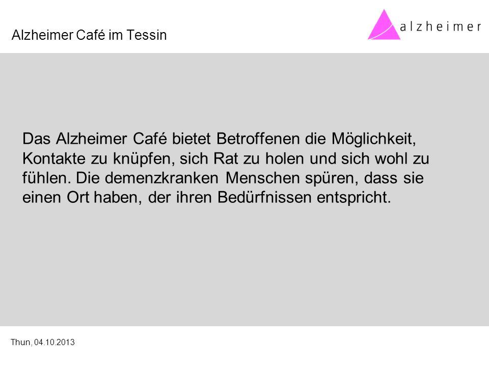 Das Alzheimer Café bietet Betroffenen die Möglichkeit, Kontakte zu knüpfen, sich Rat zu holen und sich wohl zu fühlen.
