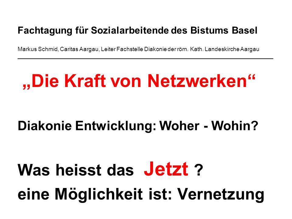 Fachtagung für Sozialarbeitende des Bistums Basel Markus Schmid, Caritas Aargau, Leiter Fachstelle Diakonie der röm.
