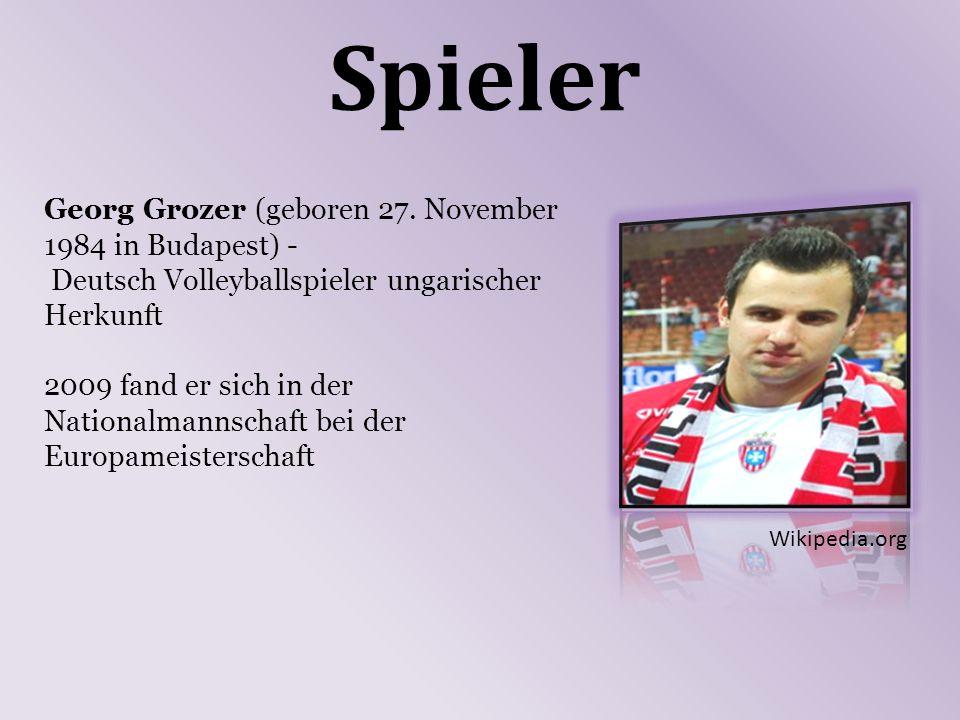 Spieler Georg Grozer (geboren 27.