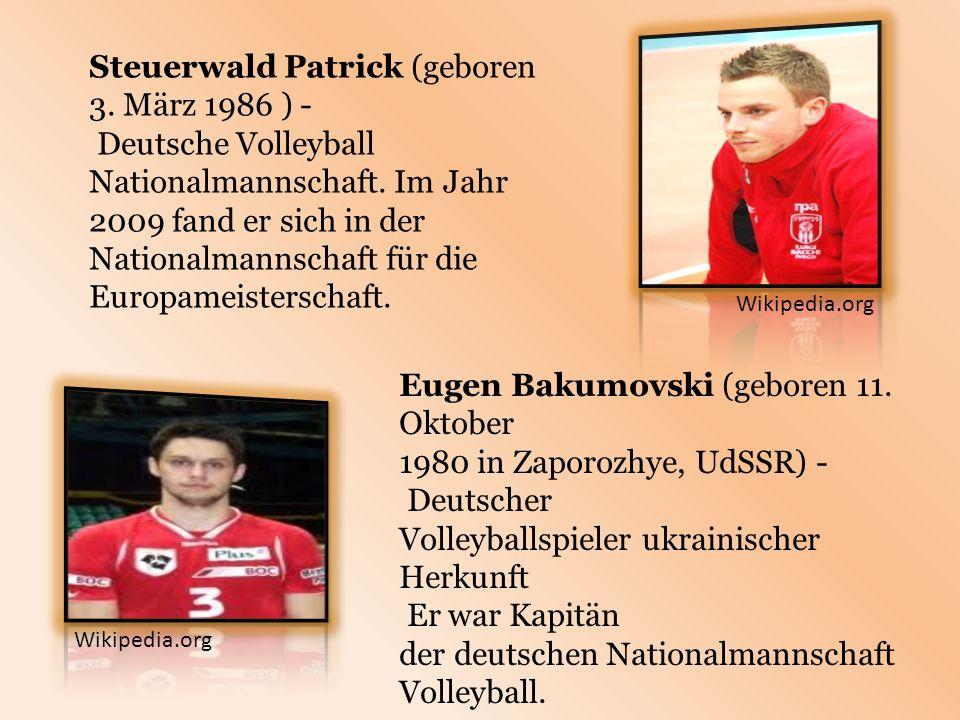 Steuerwald Patrick (geboren 3. März 1986 ) - Deutsche Volleyball Nationalmannschaft.