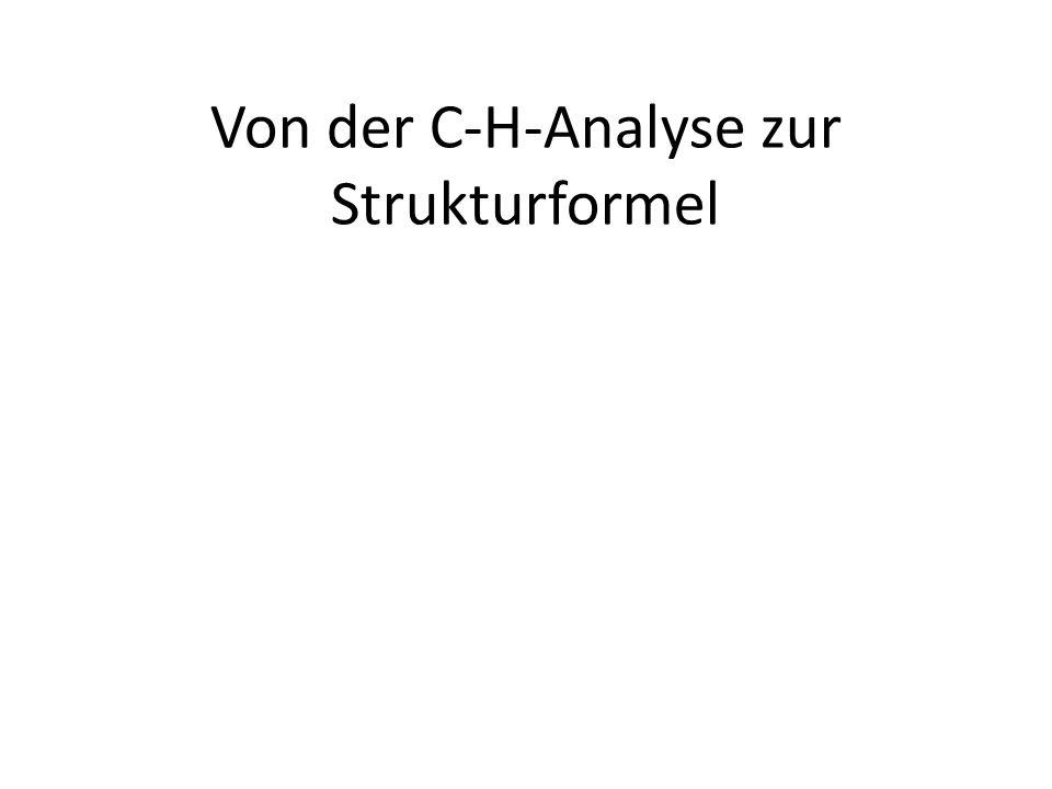 Von der C-H-Analyse zur Strukturformel