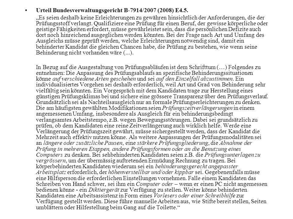 Urteil Bundesverwaltungsgericht B-7914/2007 (2008) E4.5.