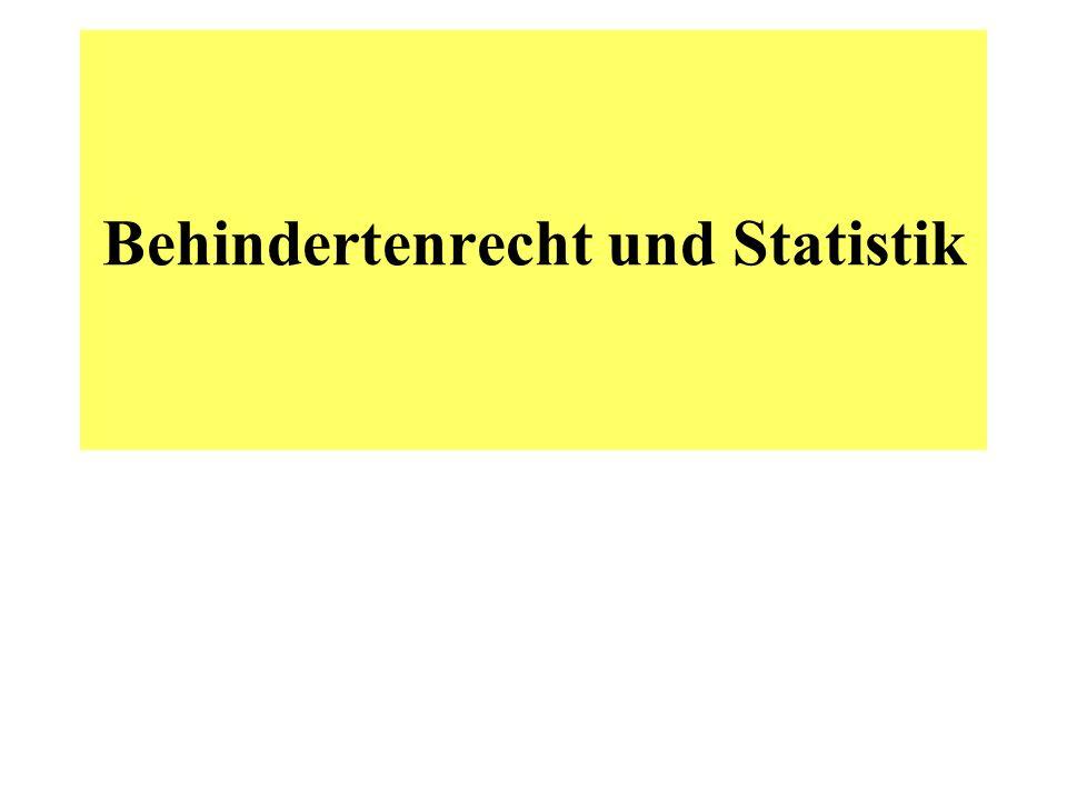 Behindertenrecht und Statistik