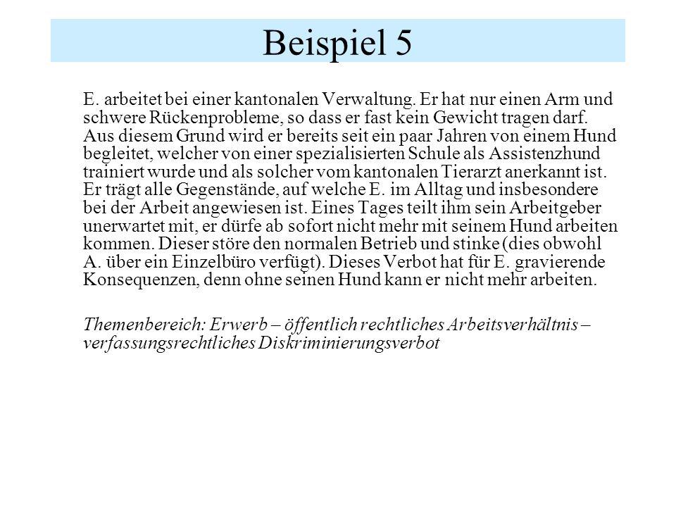 "BGE 126 II 377 E6a S.392 ""Eine Diskriminierung gemäss Art."