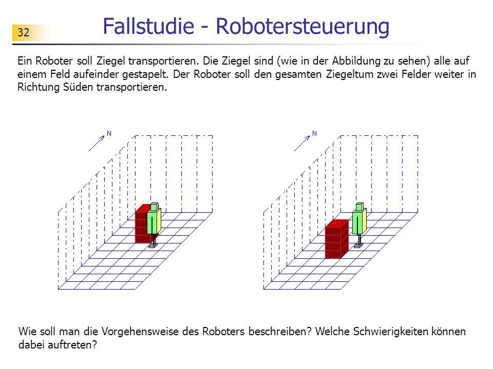 32 Fallstudie - Robotersteuerung Ein Roboter soll Ziegel transportieren.