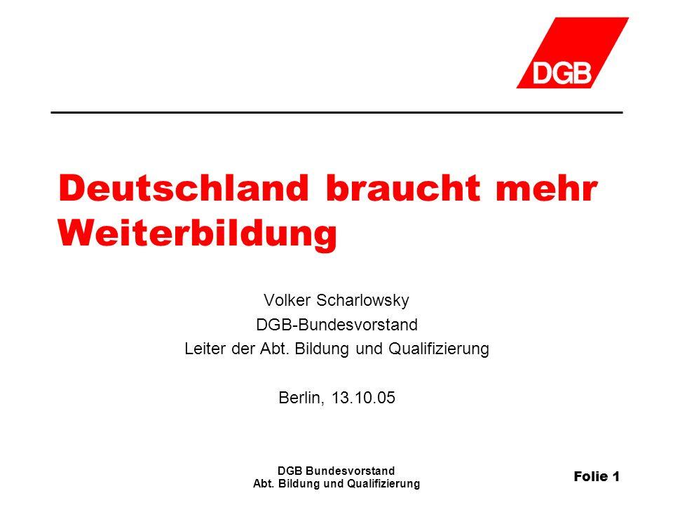 Folie 1 DGB Bundesvorstand Abt.