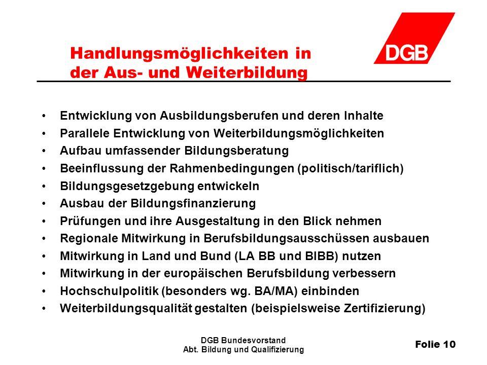 Folie 10 DGB Bundesvorstand Abt.