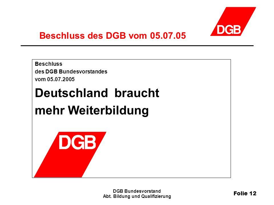 Folie 12 DGB Bundesvorstand Abt.
