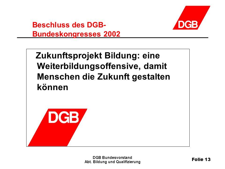 Folie 13 DGB Bundesvorstand Abt.